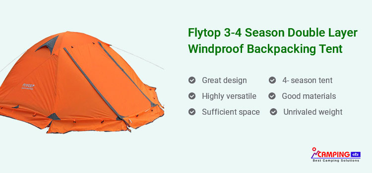 Flytop Double Layer Windproof Backpacking Tent