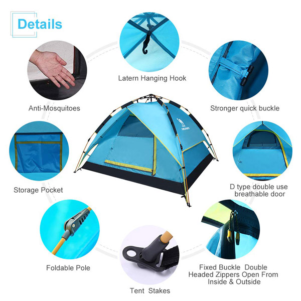 CAMEL Sports Hydraulic Tent Features