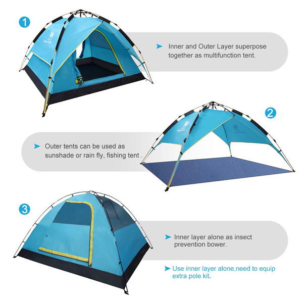 Fourth Generation Automatic Hydraulic Tent CAMEL Sports