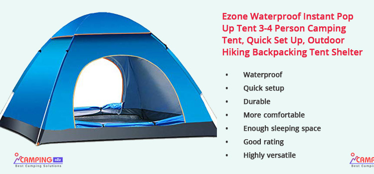 Ezone Waterproof Instant Pop-Up Tent