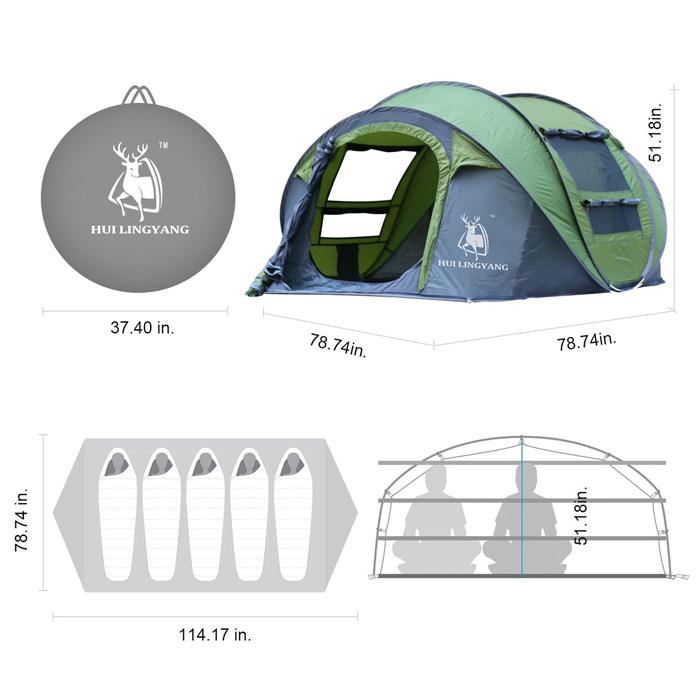 Adipin tent setup