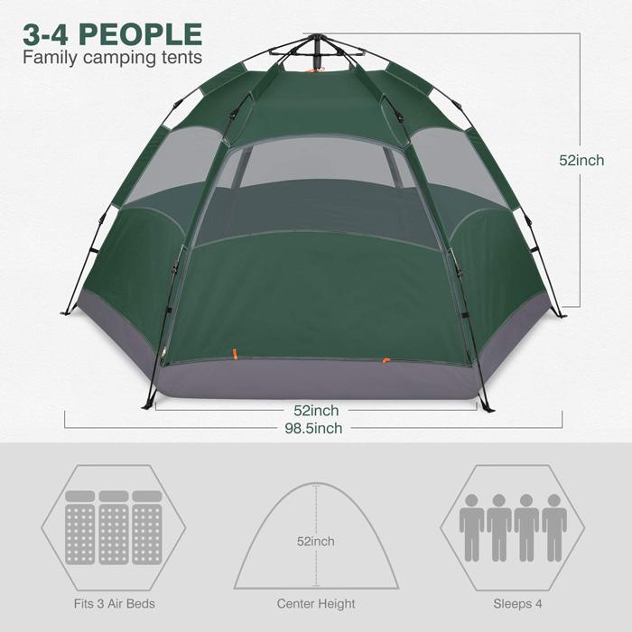 Amagoing tent setup