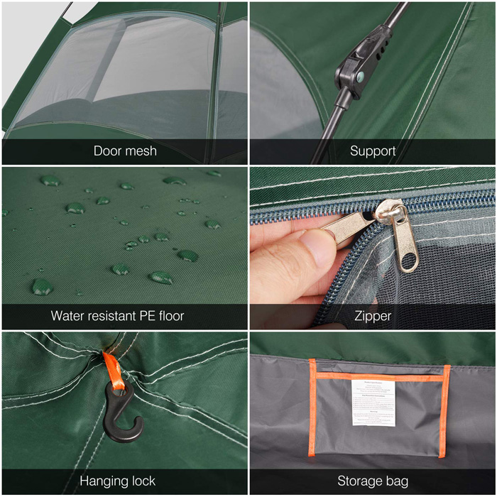 Amagoing tent Features